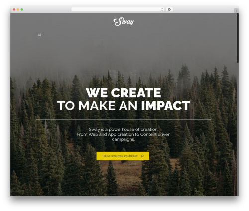 Betheme WordPress page template - swayworld.com