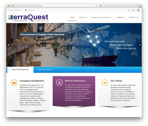 Envision theme WordPress - terraquestint.com
