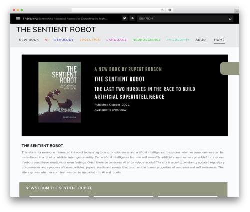 Extra WordPress theme design - thesentientrobot.com