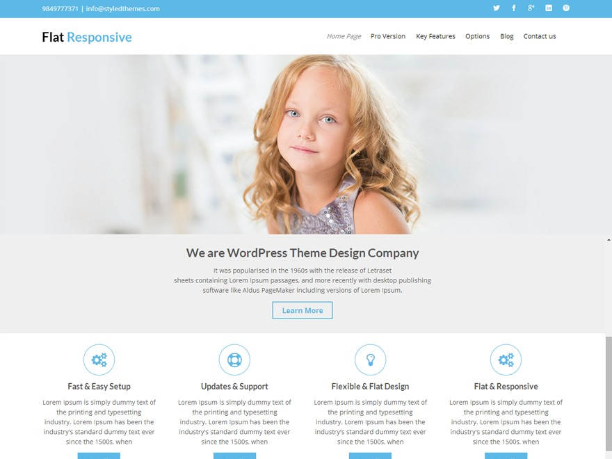 Flat Responsive Child WordPress blog theme