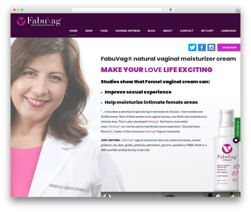 Shopscape WordPress store theme - naturalvaginalsolutions.com