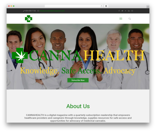 Theme WordPress Betheme - cannahealthmagazine.com