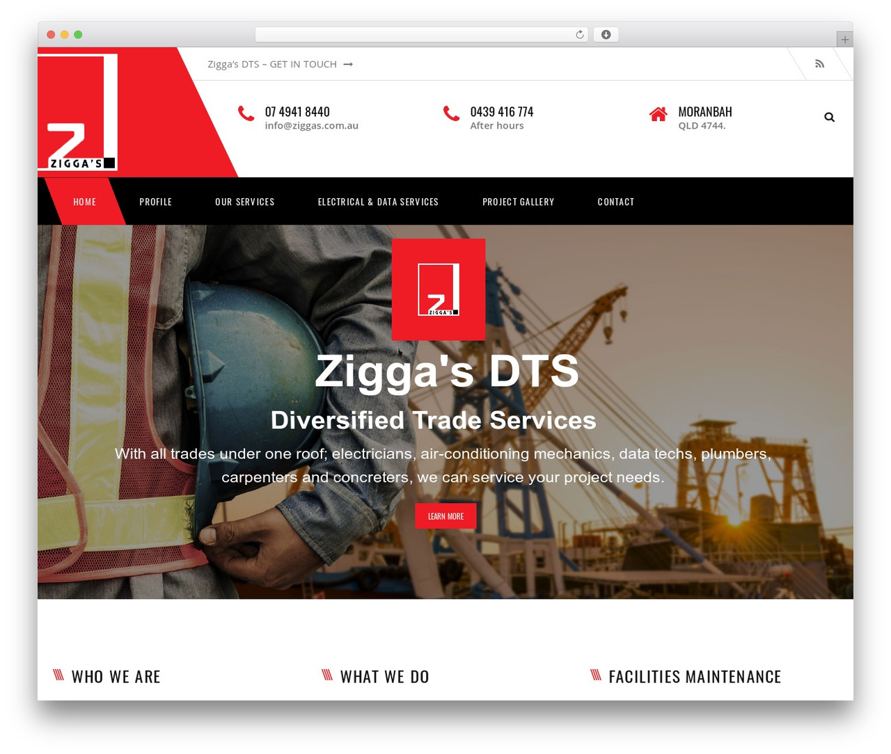 Transport WordPress theme - ziggasdts.com
