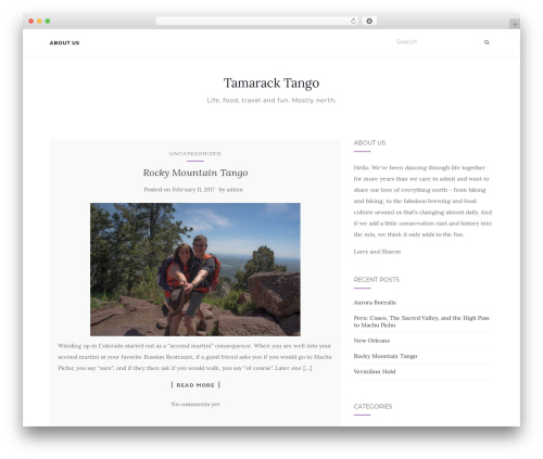 Activello free WordPress theme - tamaracktango.com