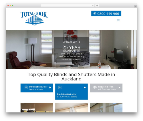 Betheme WordPress page template - totallookblinds.com