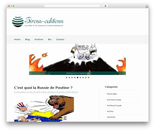 Gatsby theme WordPress free - siress-editions.com