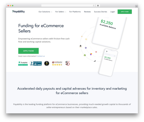 Revolution WordPress template for business - payability.com