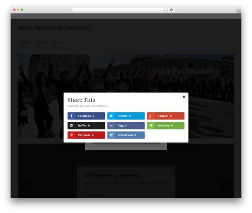 Speedy free WordPress theme - aconservativemoment.com