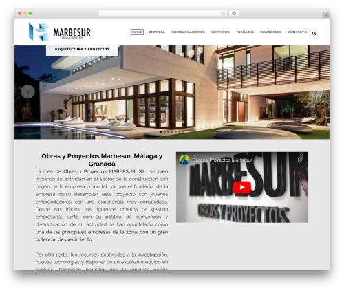 WordPress template Bridge - marbesur.com