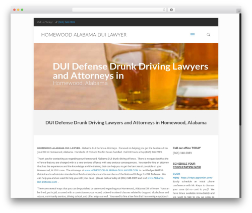 Betheme template WordPress - homewood-alabama-dui-lawyer.com