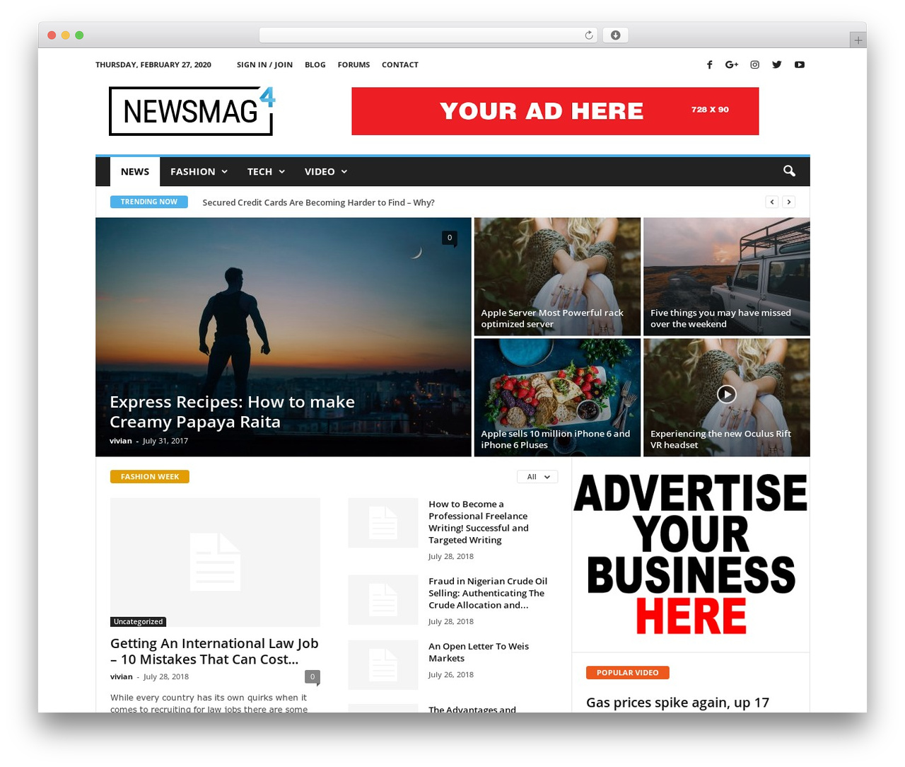 Newsmag WordPress template by tagDiv - s-blc com