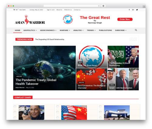 Newspaper top WordPress theme - asianwarrior.com