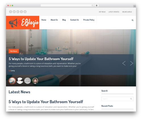 SocialNow by MyThemeShop WordPress blog theme - eblogin.com