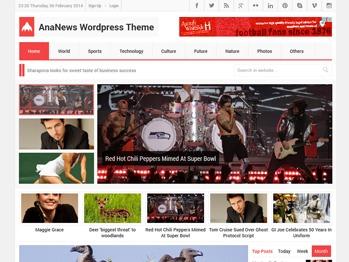 AnaNews Tr WordPress news theme