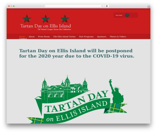 Best WordPress template Eventor - tartandayonellisisland.com