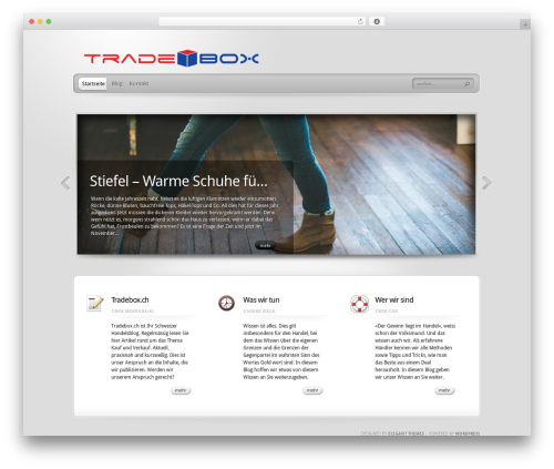 Best WordPress template TheProfessional - tradebox.ch