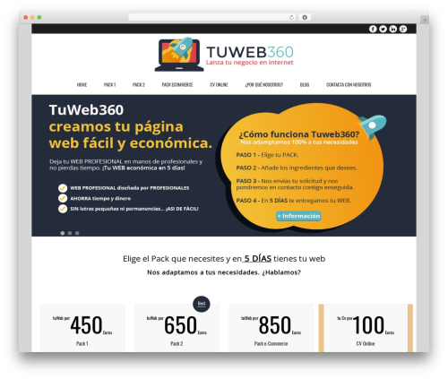 Best WordPress theme Subway - tuweb360.es