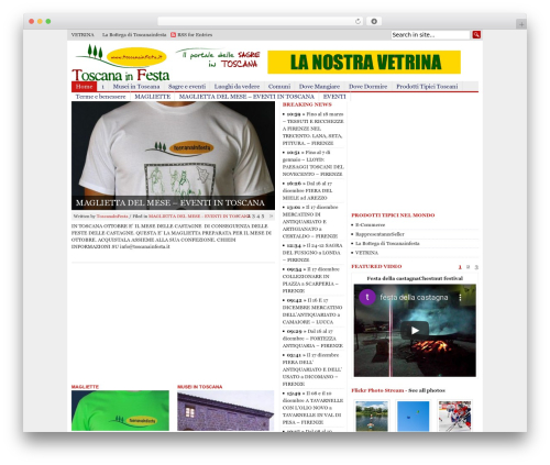Blognews WordPress news theme - toscanainfesta.it