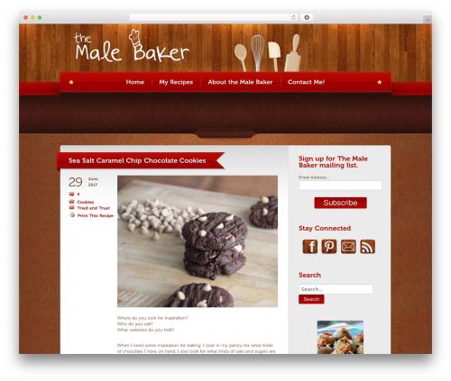 Bordeaux Premium Theme WordPress page template - themalebaker.com