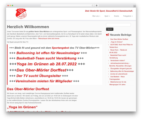 Customizr free WordPress theme - tv-ober-moerlen.de