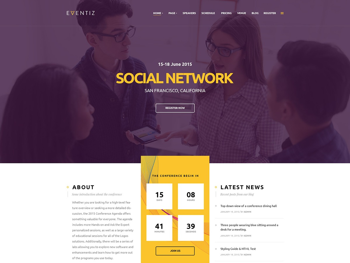 Eventiz WordPress store theme
