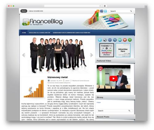 FinanceBlog WordPress theme - turbopit.pl
