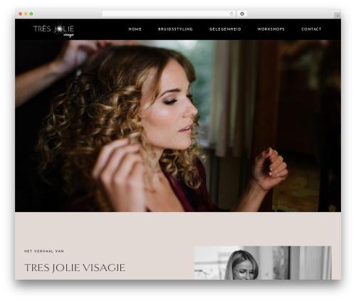 Flourish Theme WordPress theme - tresjolievisagie.nl