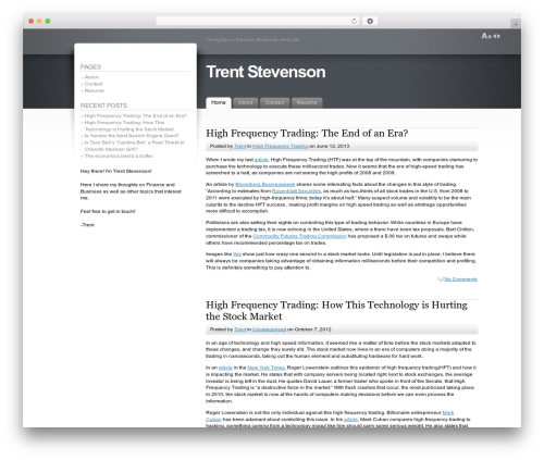 Fusion best WordPress theme - trentstevenson.com