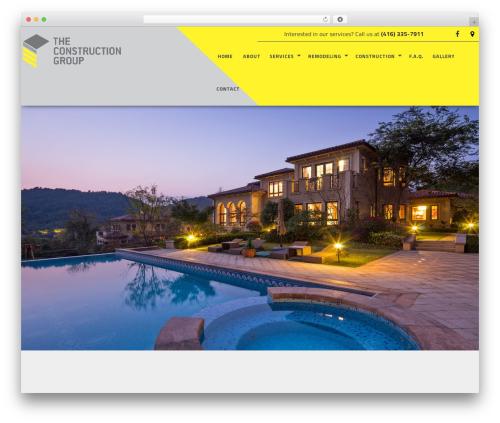 General Contractor 6 template WordPress - theconstructiongroup.ca