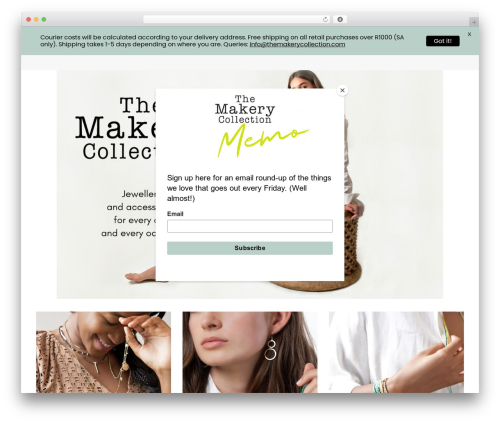 Jupiter WordPress website template - themakerycollection.com