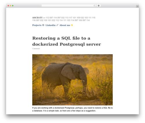 Less WordPress page template - t3rcio.com.br