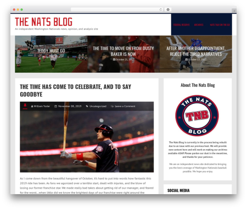 LiveBlog best WordPress magazine theme - thenatsblog.com