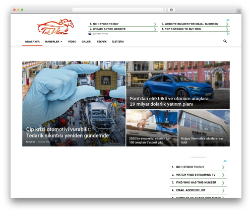 Newspaper WordPress news template - tekvites.com