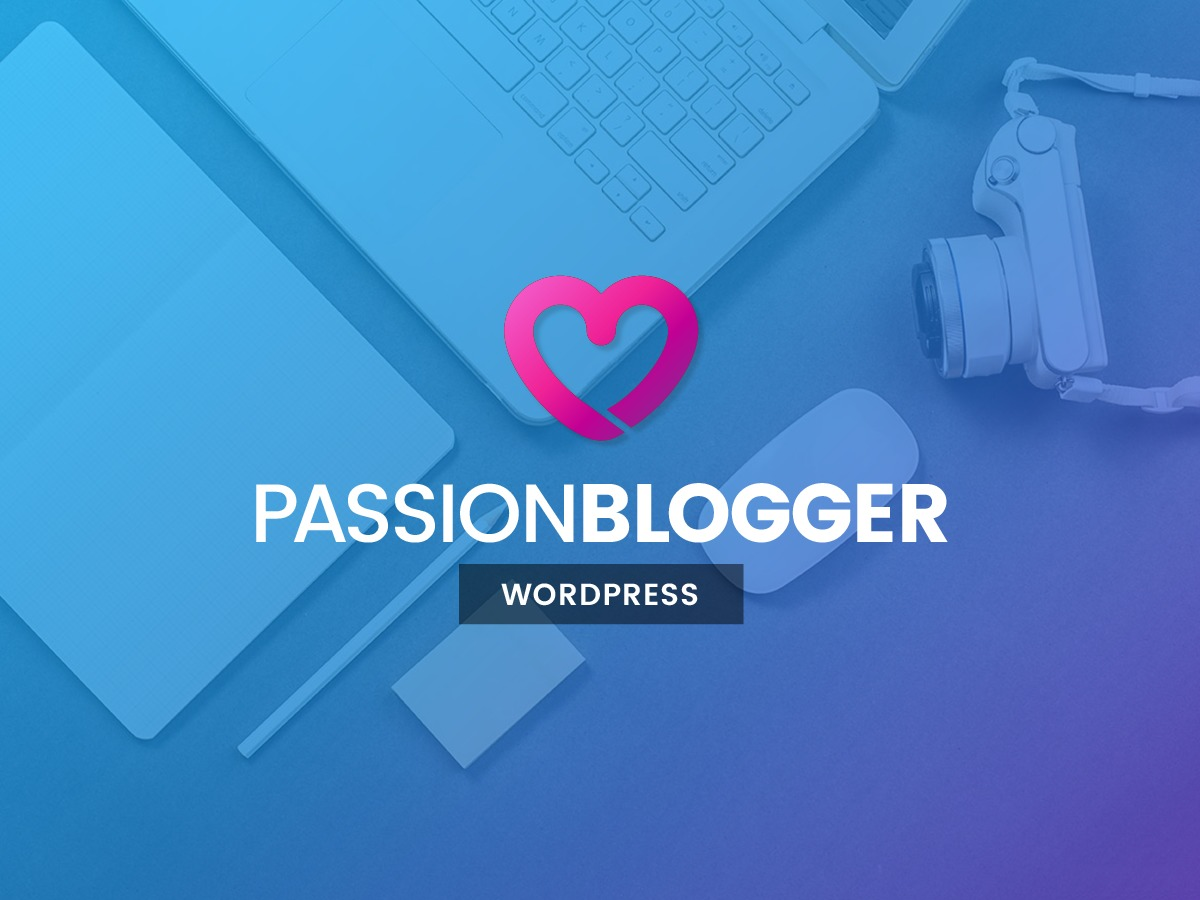 PassionBlogger WordPress news template