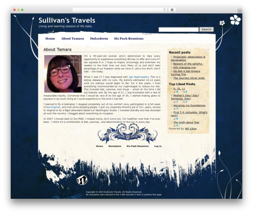 Pretty Parchment WordPress theme - tksullivan.com