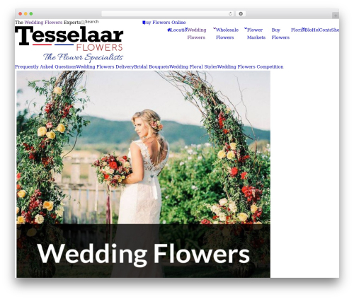 Free WordPress Font Awesome 4 Menus plugin - tesselaarflowers.com.au/wedding-flowers