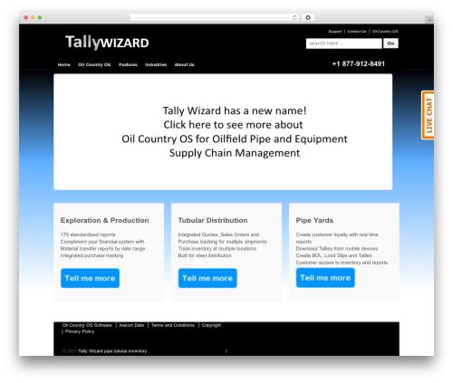 Responsive free website theme - tallywizard.com