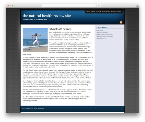 Theme WordPress Affiliate Internet Marketing theme - thenaturalhealthreviewsite.com
