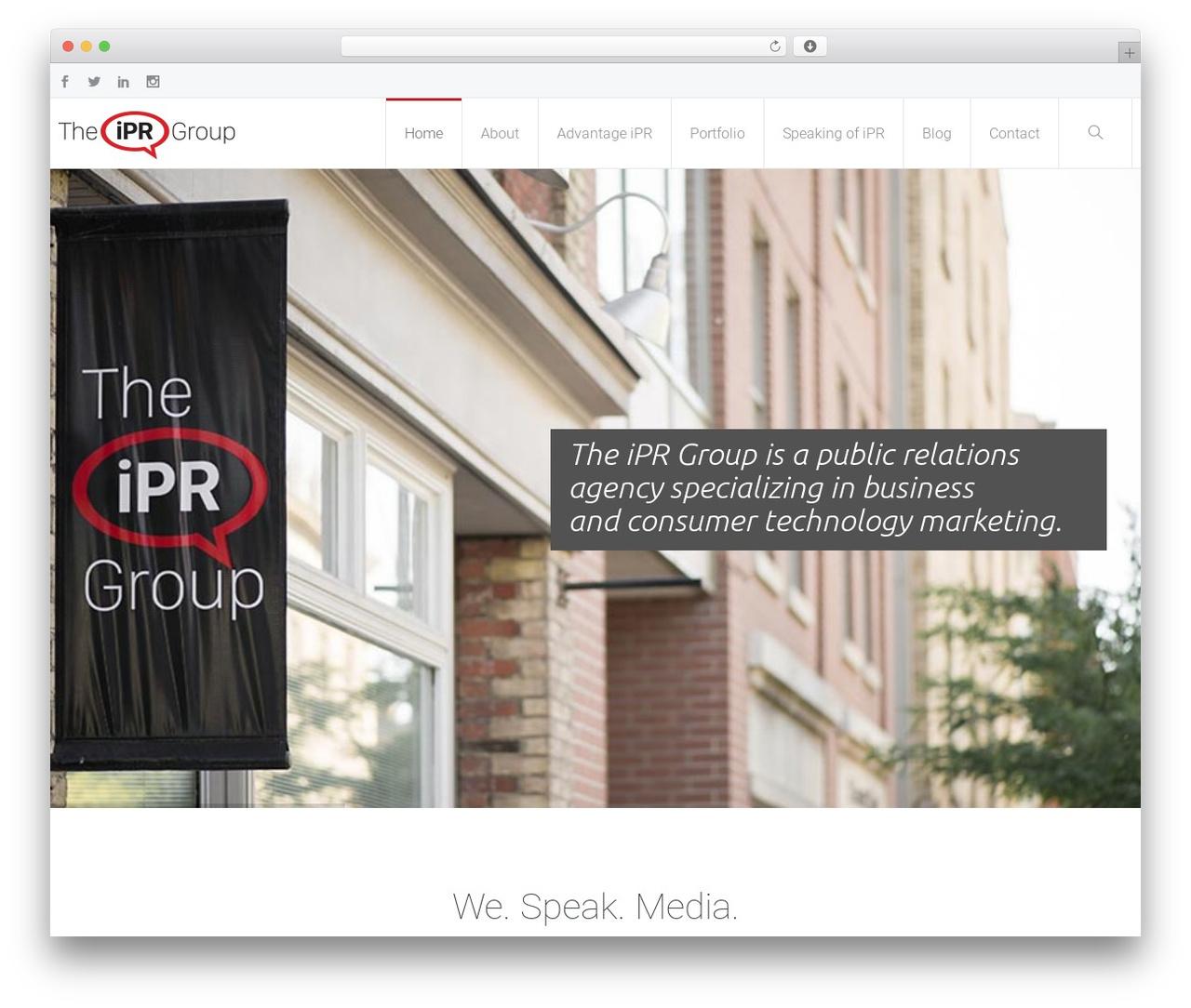Theme WordPress Salamat - theiprgroup.ca