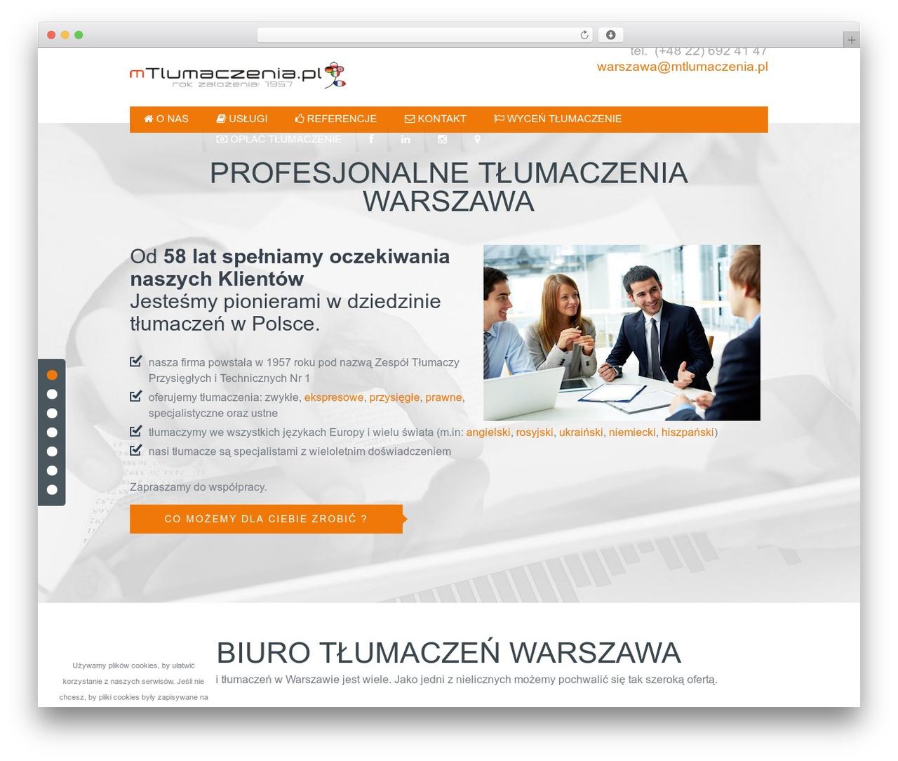 Tlumacze-warszawa best WordPress template - tlumacze-warszawa.pl