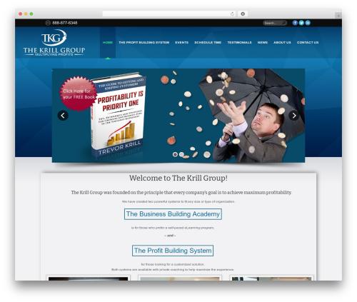 Unicorn WordPress template for business - thekrillgroup.com
