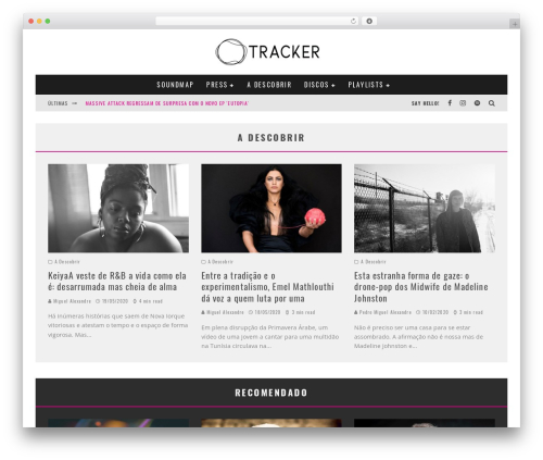 Valenti WordPress website template - tracker-magazine.com