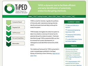 WordPress template TiPED for Advancing Green Chemistry