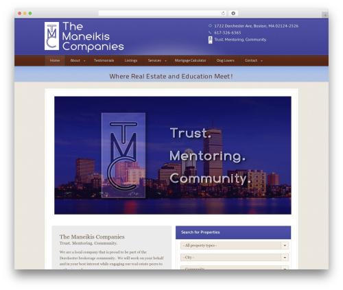 WordPress website template Domestica - themaneikiscompanies.com