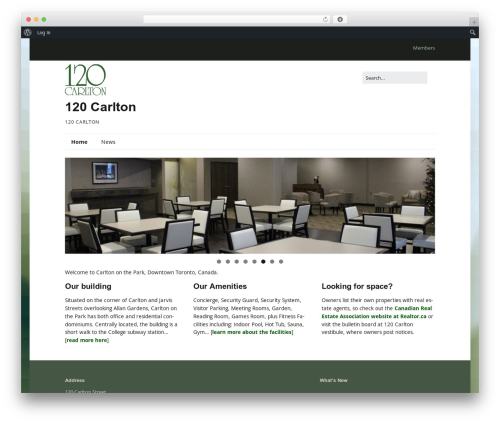 Make template WordPress free - 120carlton.com