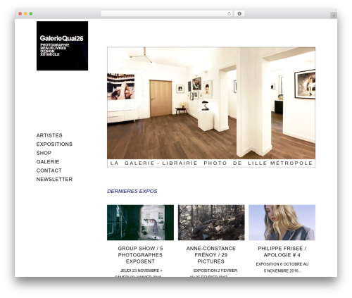Theme WordPress Bridge - galeriequai26.com