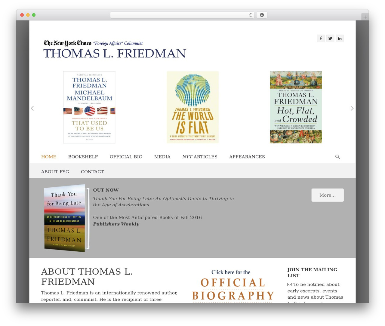 WordPress theme Catch Base Pro - thomaslfriedman.com