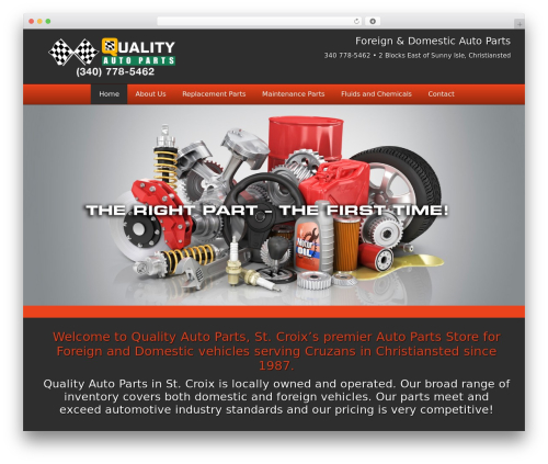 WordPress website template autorepair - qualityautopartsvi.com