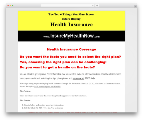 WP template Headway Base - insuremyhealthnow.com