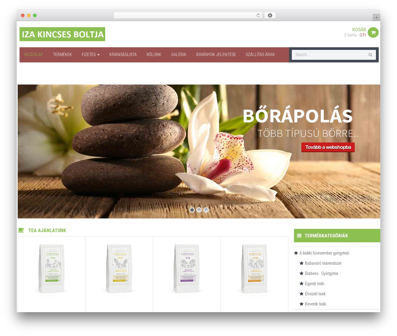 WPO Shopping premium WordPress theme - izakincsesboltja.com